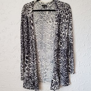 Le chateau White Leopard Open Cardigan